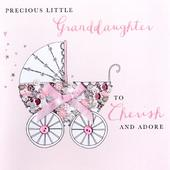 New Baby Granddaughter Buttoned Up Greeting Card