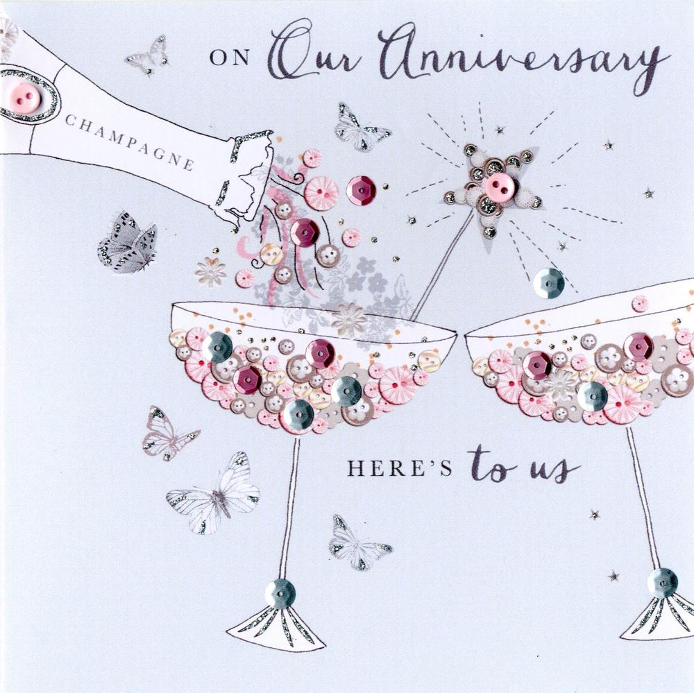 On Our Anniversary Buttoned Up Greeting Card