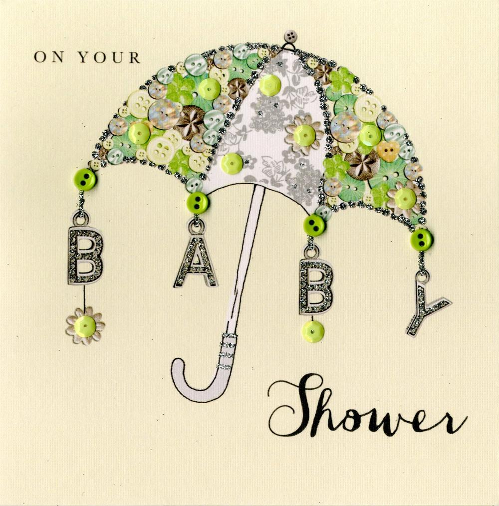 On Your Baby Shower Buttoned Up Greeting Card