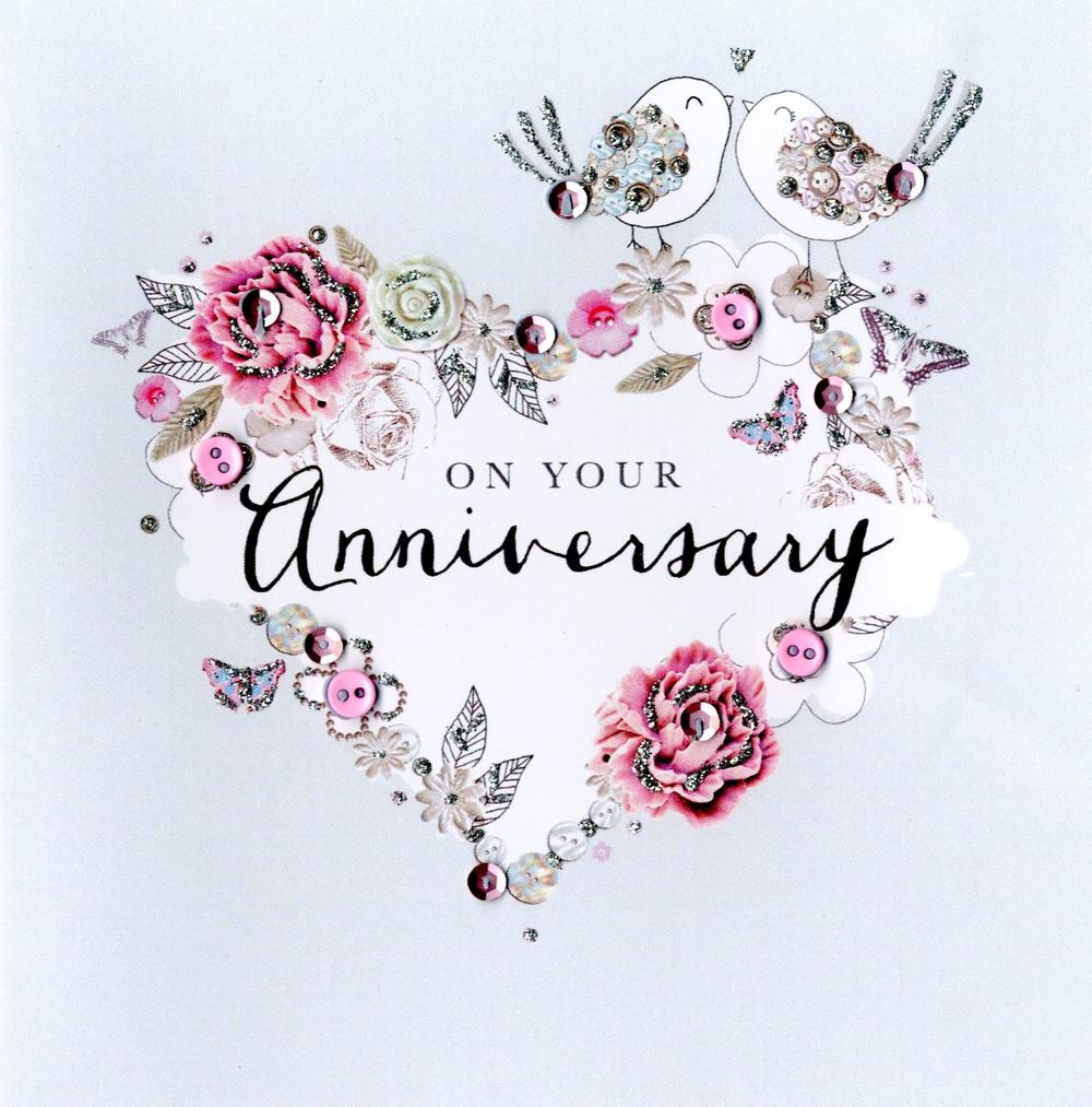 On Your Anniversary Buttoned Up Greeting Card