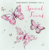 Special Friend Birthday Buttoned Up Greeting Card