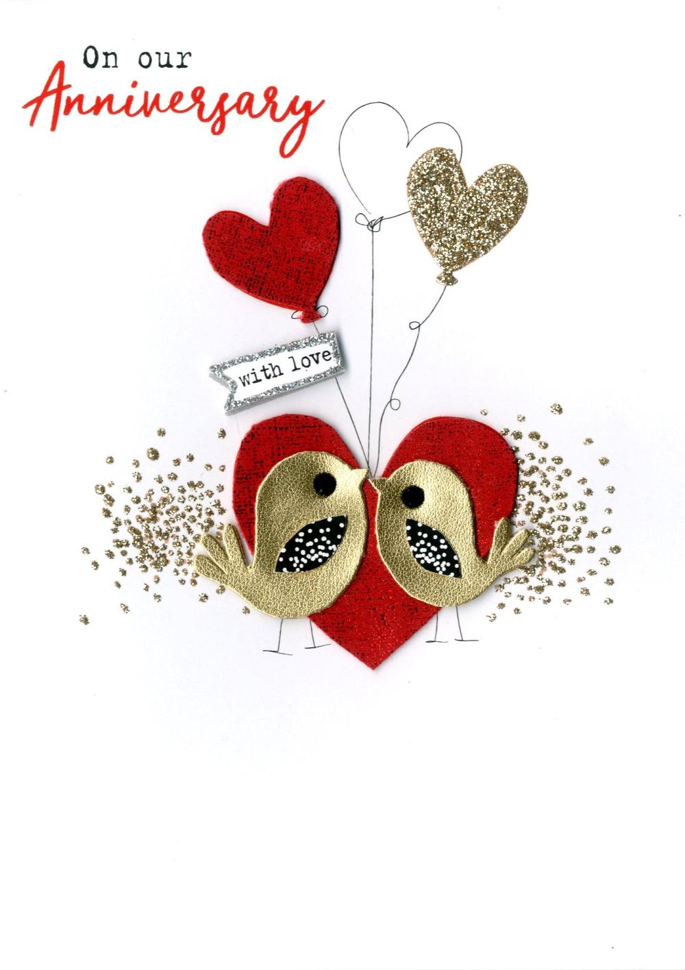 On Our Anniversary With Love Irresistible Greeting Card