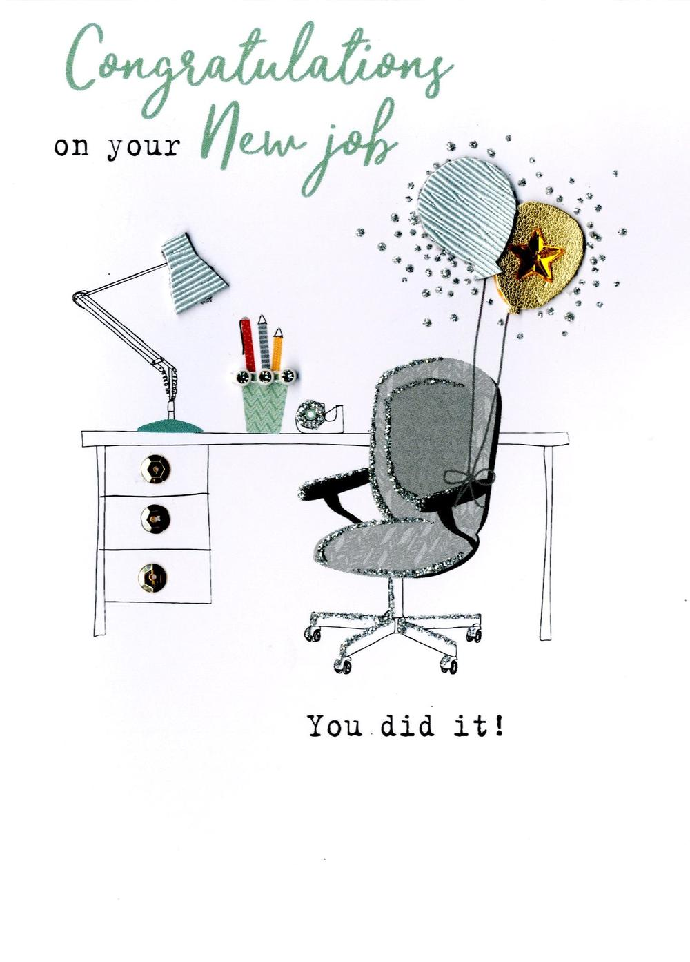 congratulations on your new job irresistible greeting card