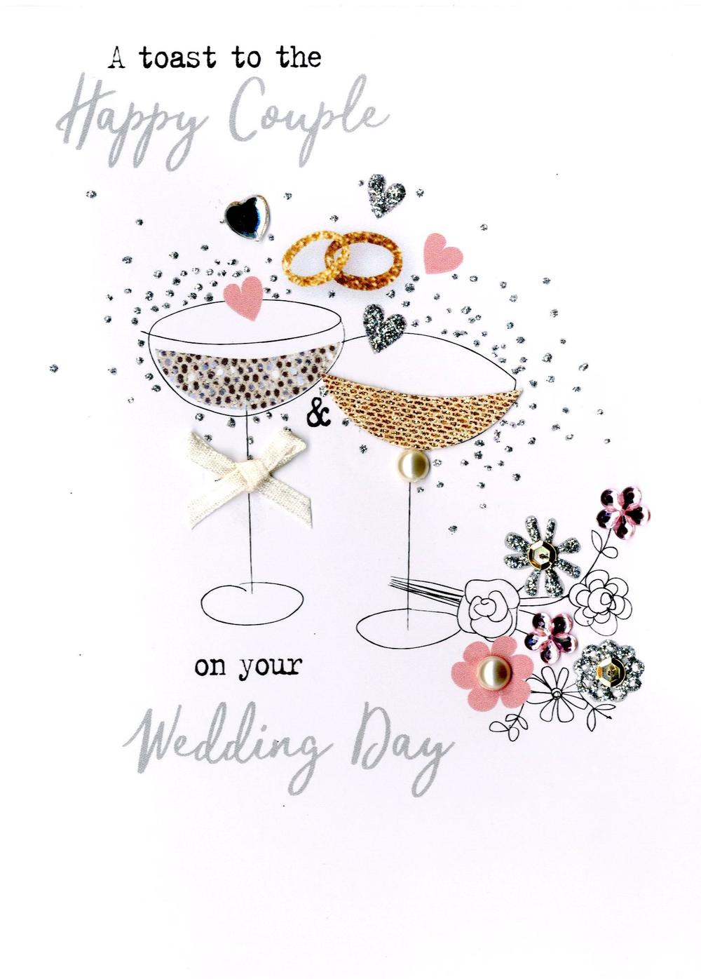 Happy Couple Wedding Day Irresistible Greeting Card