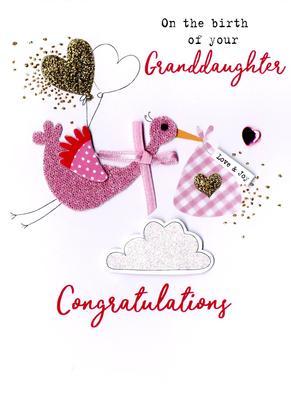 New Baby Granddaughter Irresistible Greeting Card
