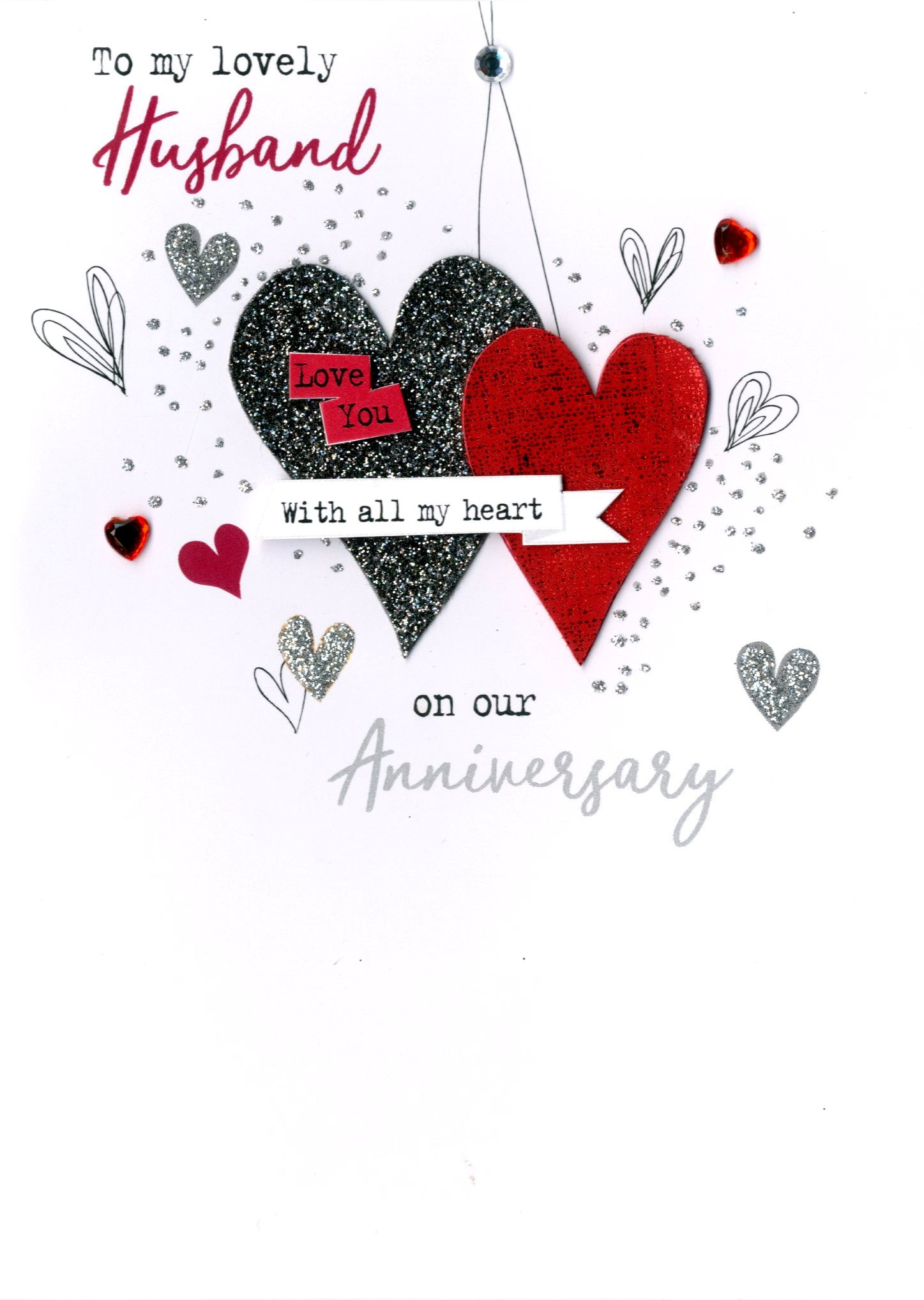 To My Husband On Our Anniversary Irresistible Greeting Card Cards