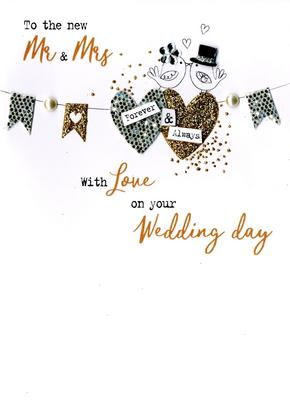 Mr & Mrs Wedding Day Irresistible Greeting Card