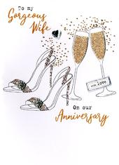 Gorgeous Wife Anniversary Irresistible Greeting Card