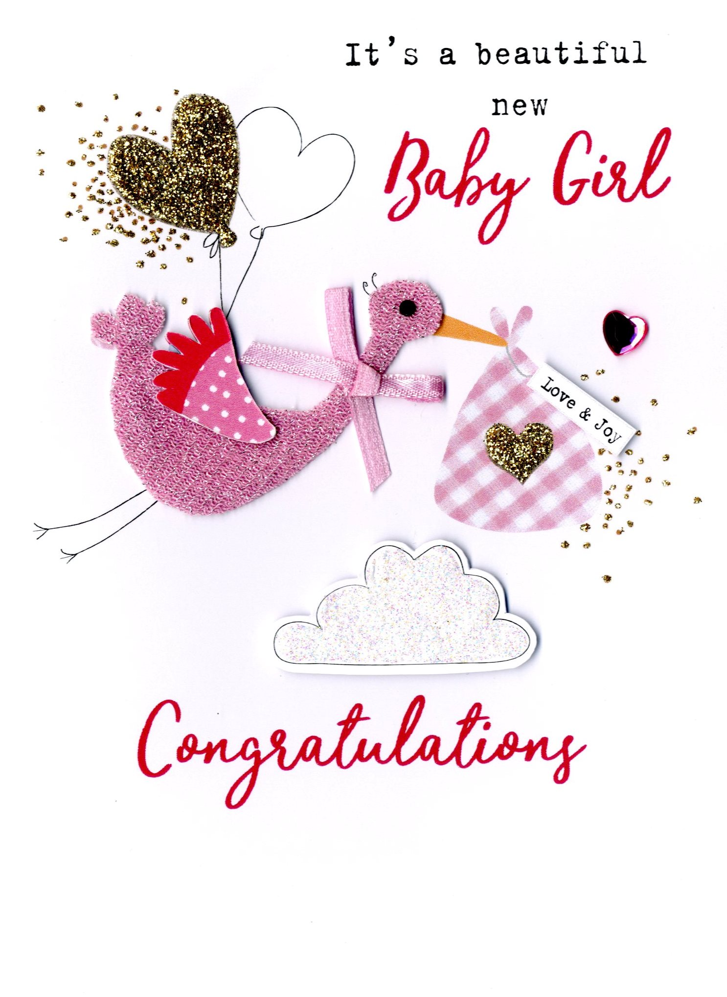 new baby girl irresistible greeting card cards love kates