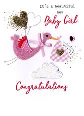 New Baby Girl Irresistible Greeting Card