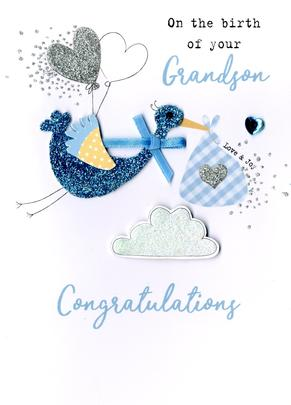 New Baby Grandson Irresistible Greeting Card