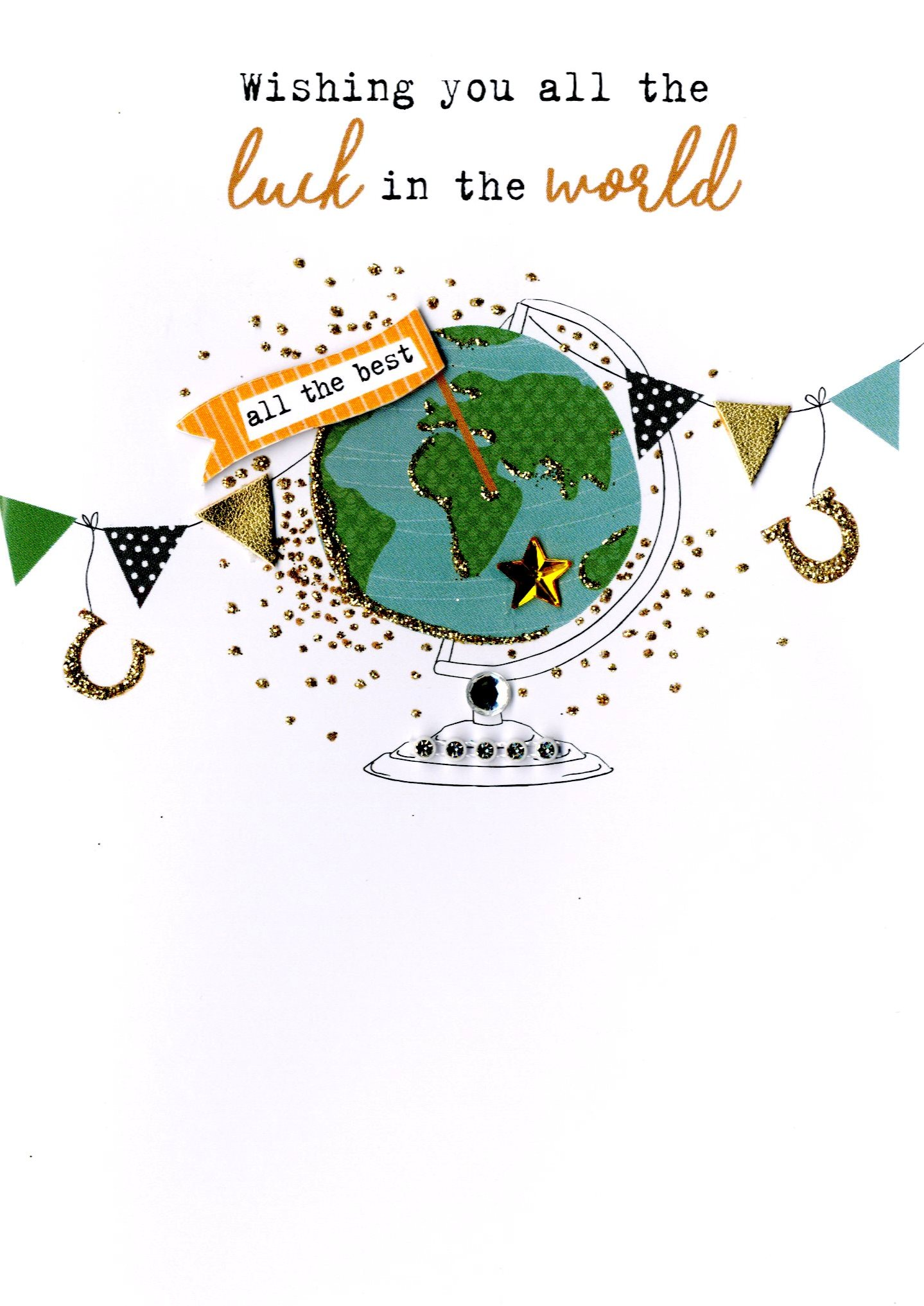 Wishing You All The Luck In World Irresistible Greeting Card Cards