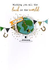 Wishing You All The Luck In World Irresistible Greeting Card