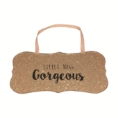 Little Miss Gorgeous All That Glitters Glass Hanging Plaque