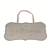 Little Miss Princess All That Glitters Glass Hanging Plaque