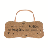 Mother & Daughter Love All That Glitters Glass Hanging Plaque