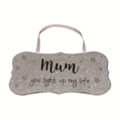 Mum You Light Up My Life All That Glitters Glass Hanging Plaque