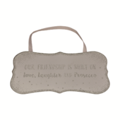 Friend Love, Laughter & Prosecco All That Glitters Glass Hanging Plaque