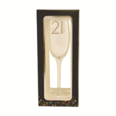 21st Birthday Celebrate In Style Flute Glass In Gift Box