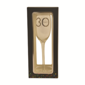 30th Birthday Celebrate In Style Flute Glass In Gift Box
