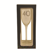 40th Birthday Celebrate In Style Flute Glass In Gift Box