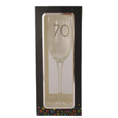 70th Birthday Celebrate In Style Flute Glass In Gift Box