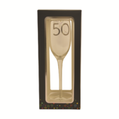 50th Birthday Celebrate In Style Flute Glass In Gift Box