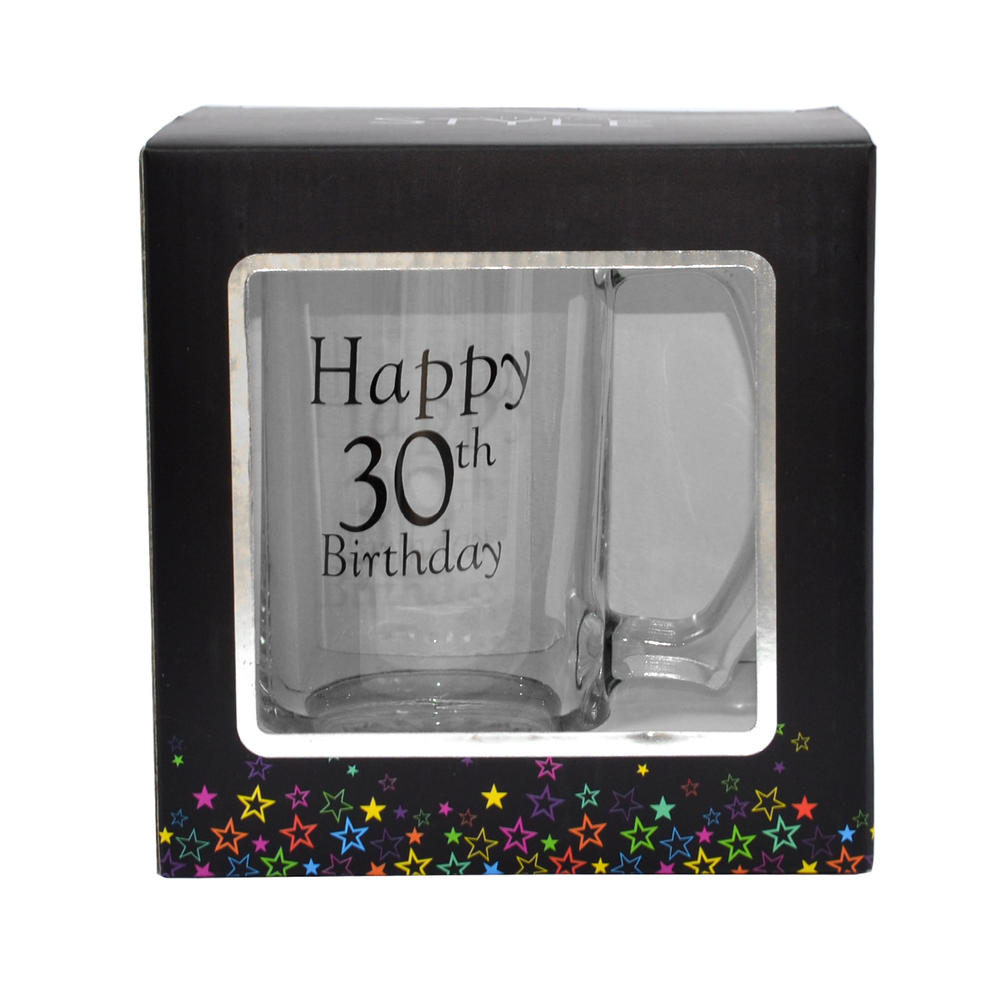 30th Birthday Celebrate In Style Glass Tankard In Gift Box