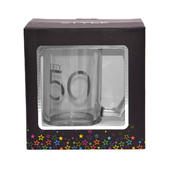 50th Birthday Celebrate In Style Glass Tankard In Gift Box