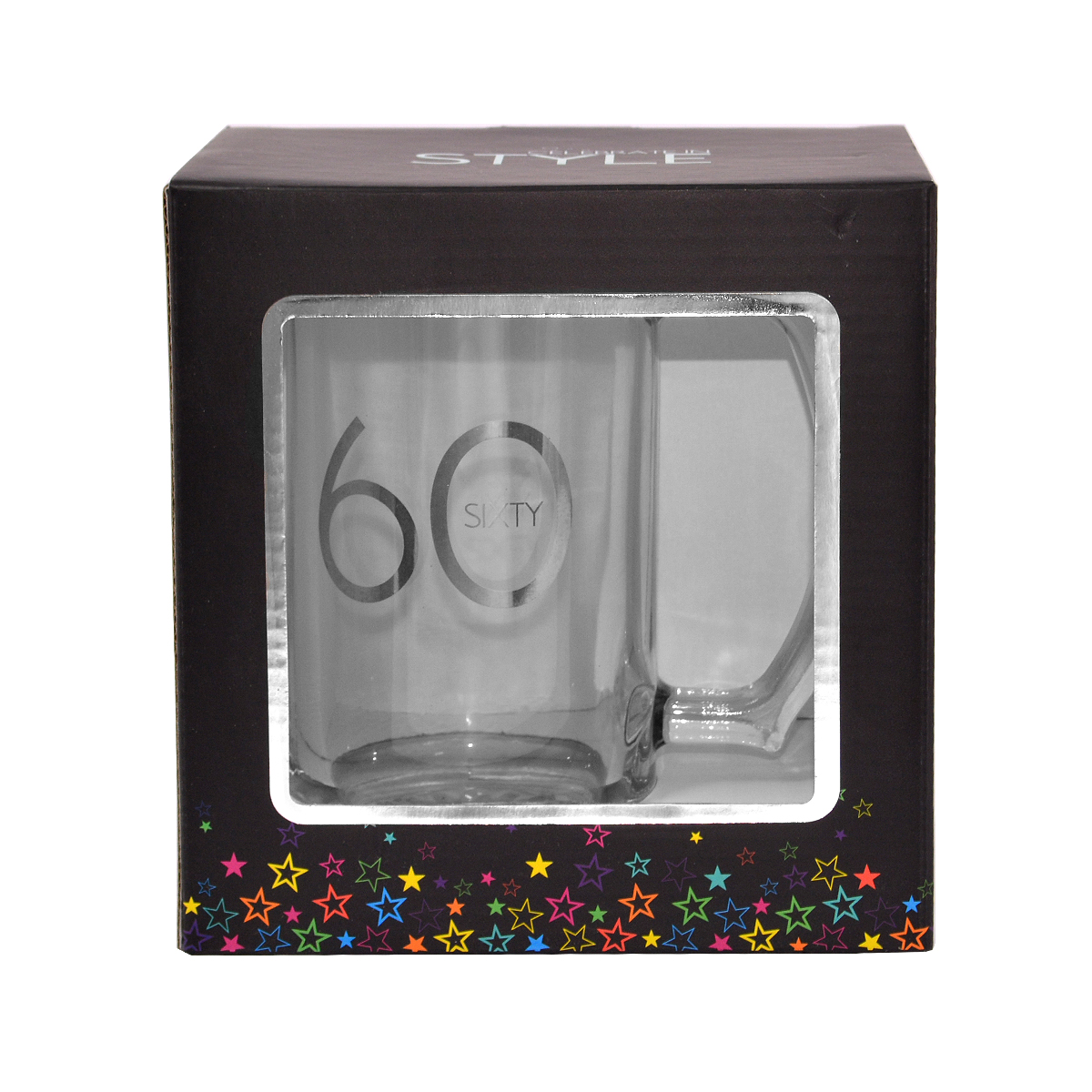 60th Birthday Celebrate In Style Glass Tankard Gift Box
