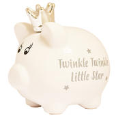 Baby's First Piggy Bank Twinkle Twinkle Little Star Traditional Money Box
