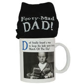 Emotional Rescue Footy Mad Dad Mug & Socks Set
