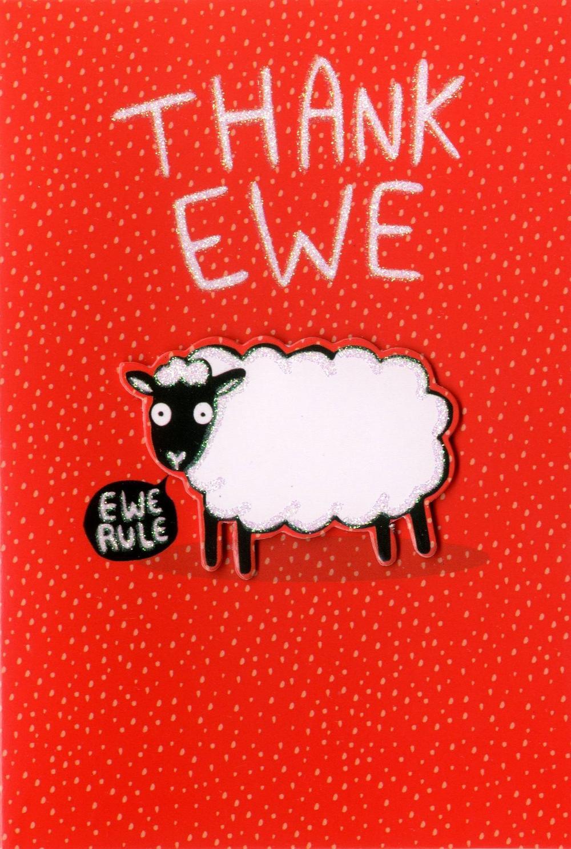 Thank Ewe Thank You Greeting Card