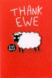 Thank Ewe Thank You Greeting Card