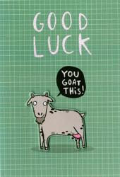 Good Luck You Goat This Greeting Card