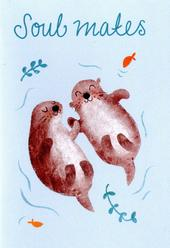 Soul Mates Cute Greeting Card