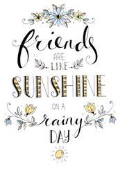 Friends Like Sunshine On A Rainy Day Greeting Card