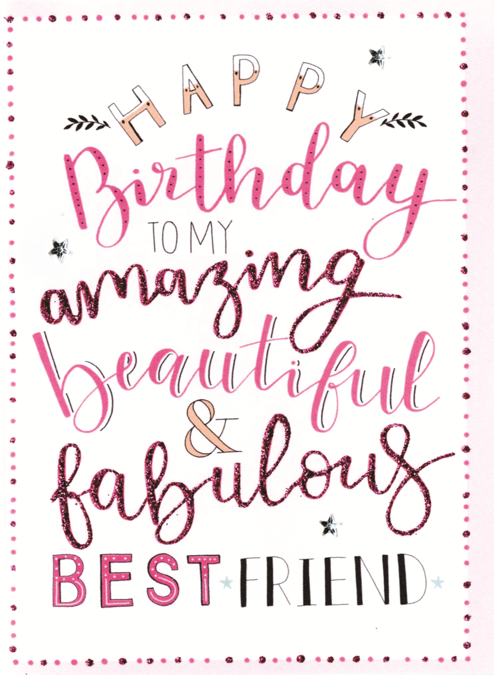 Astounding Happy Birthday To My Amazing Best Friend Greeting Card Cards Funny Birthday Cards Online Aboleapandamsfinfo
