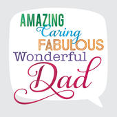 Amazing Dad Father's Day Square Script Greeting Card