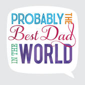 Best Dad Father's Day Square Script Greeting Card