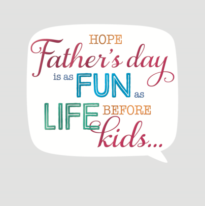 Happy Father's Day Square Script Greeting Card