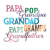 Grandfather Father's Day Square Script Greeting Card