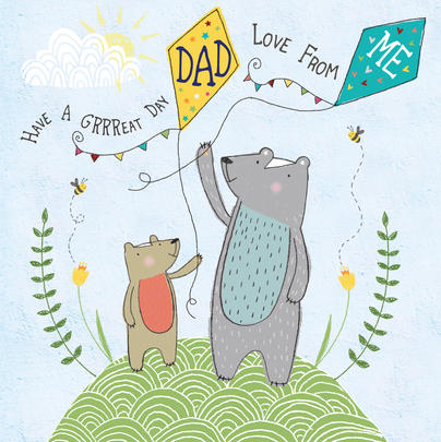 Great Day Dad Father's Day Forest Friends Greeting Card