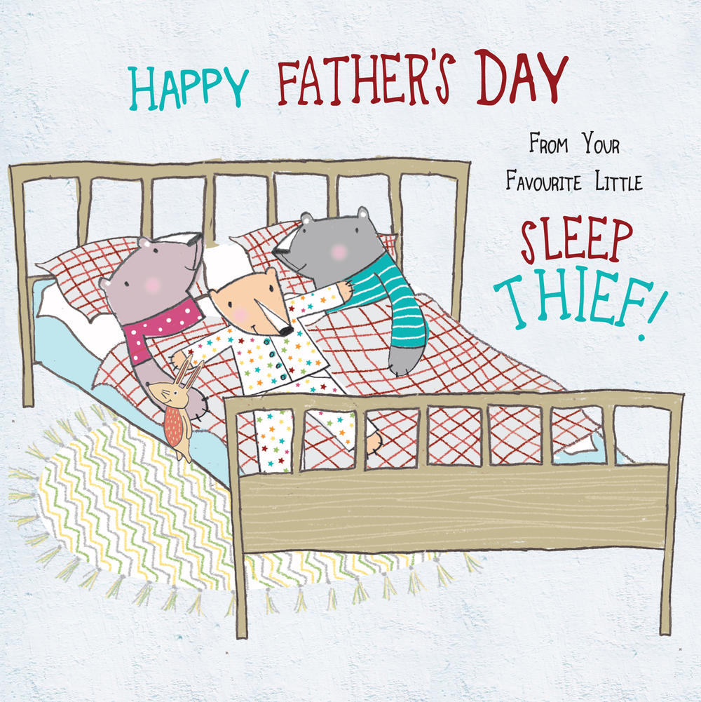 Sleep Thief Father's Day Forest Friends Greeting Card