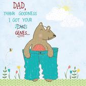 Got Your Genes Father's Day Forest Friends Greeting Card