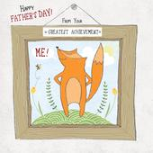 Greatest Achievement Father's Day Forest Friends Greeting Card