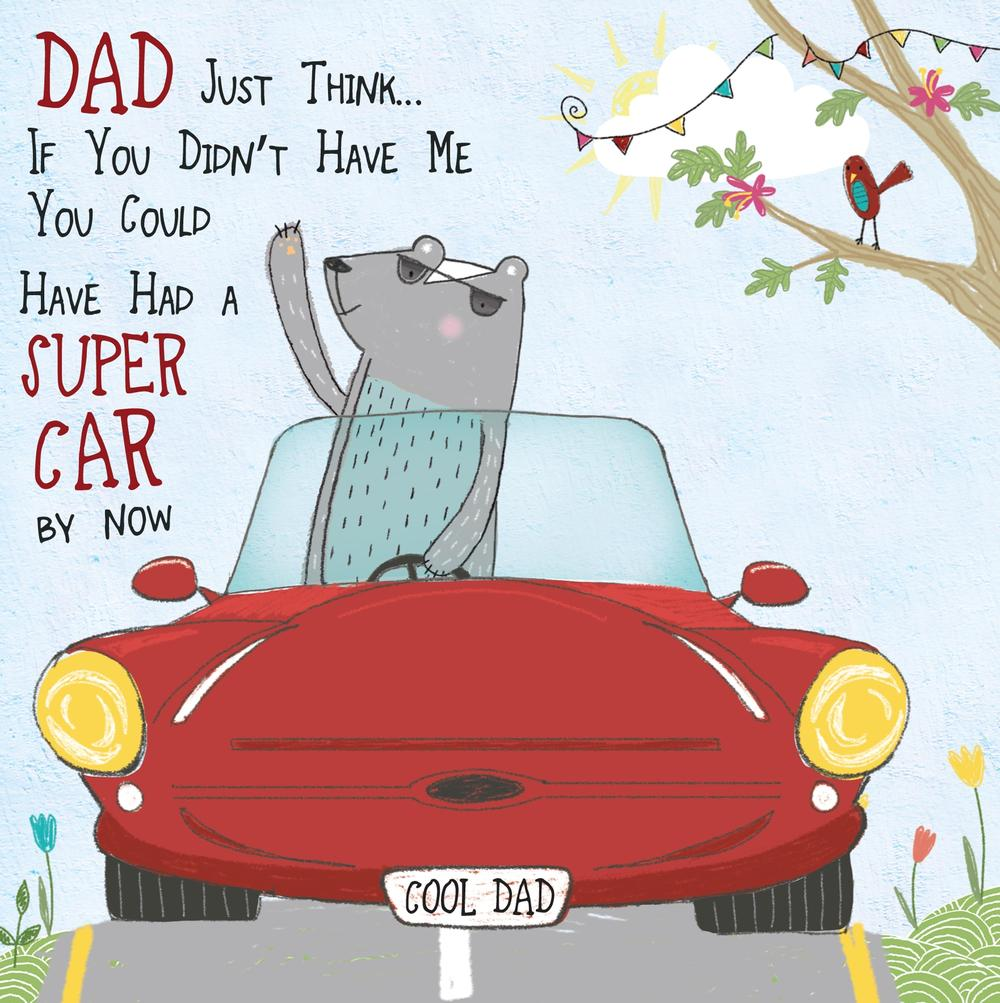 Just Think Father's Day Forest Friends Greeting Card