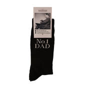 No.1 Dad Black Emotional Rescue Socks