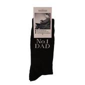 No.1 Dad Black Emotional Rescue Socks