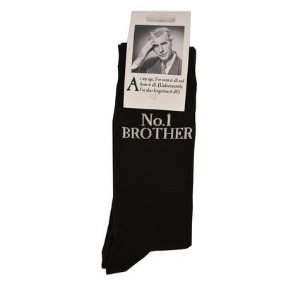 No.1 Brother Black Emotional Rescue Socks
